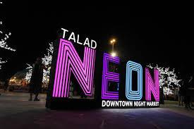 neon night market