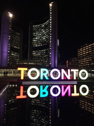 Toronto Sign Night Time