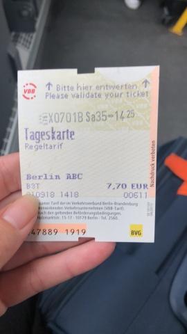 Day Ticket Zone ABC