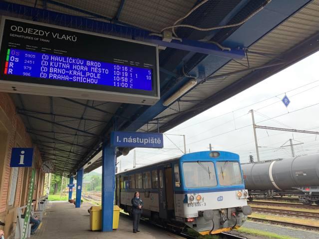 Connecting Train to Kutna Hora Mesto