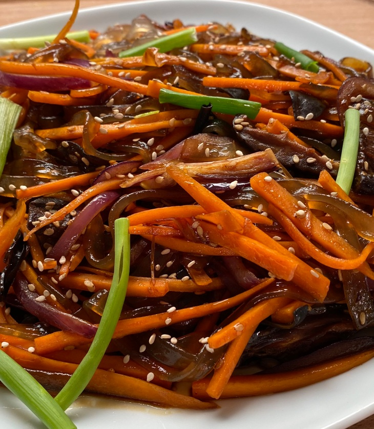 korean japchae recipe by Jenny Chu